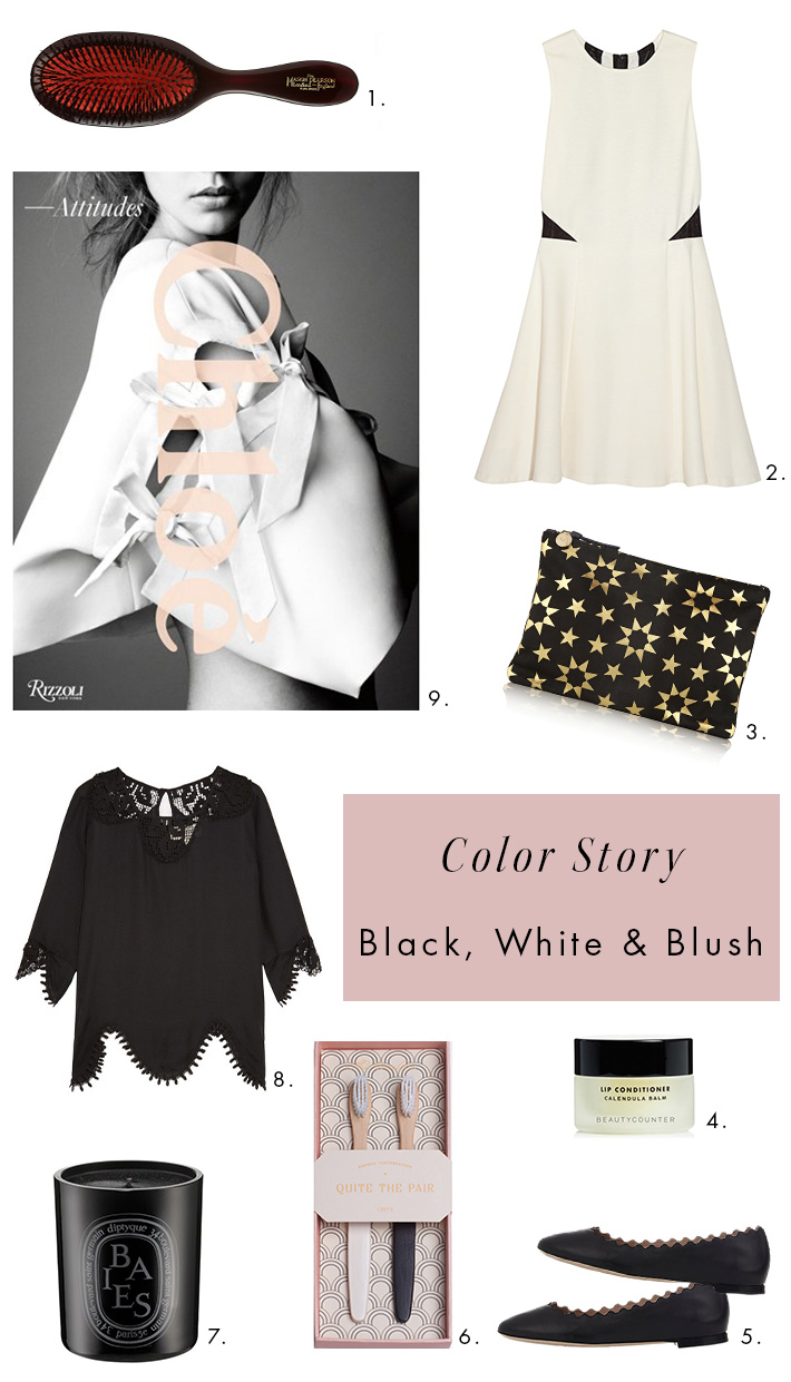 ShoppingInspiration-Blush-ClareVClutch-ChloeFlats-Diptyque