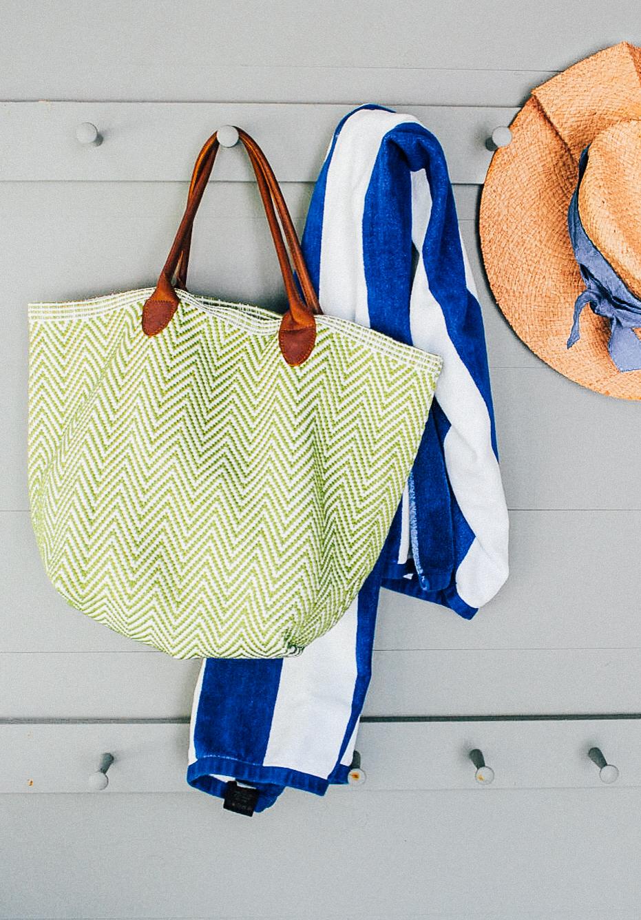 Annie Selke Beach Bag.