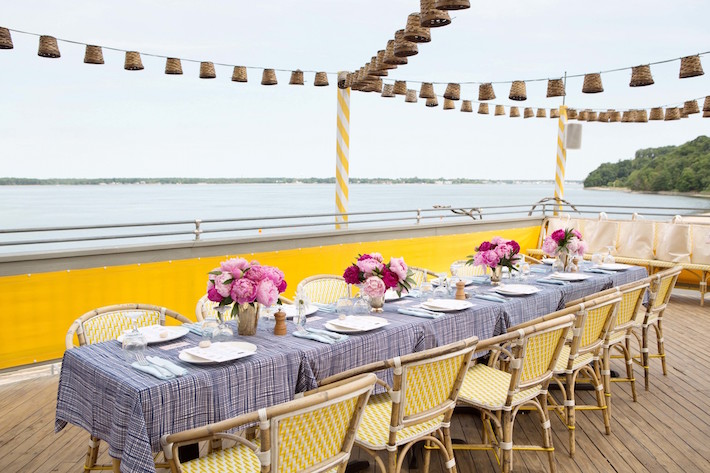 Summer Table Setting by the Ocean