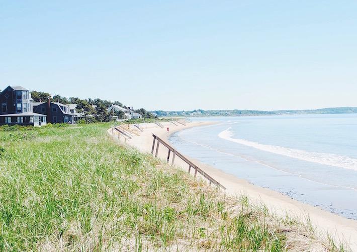 the beach in Maine