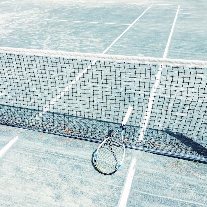 on the tennis court - instagram