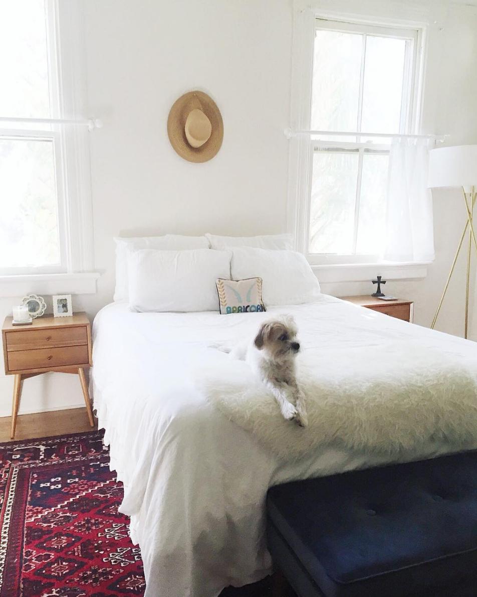 Brooke Kiernan McCallion. Morning Routine Interview on Simply Elegant. Simple Bedroom.