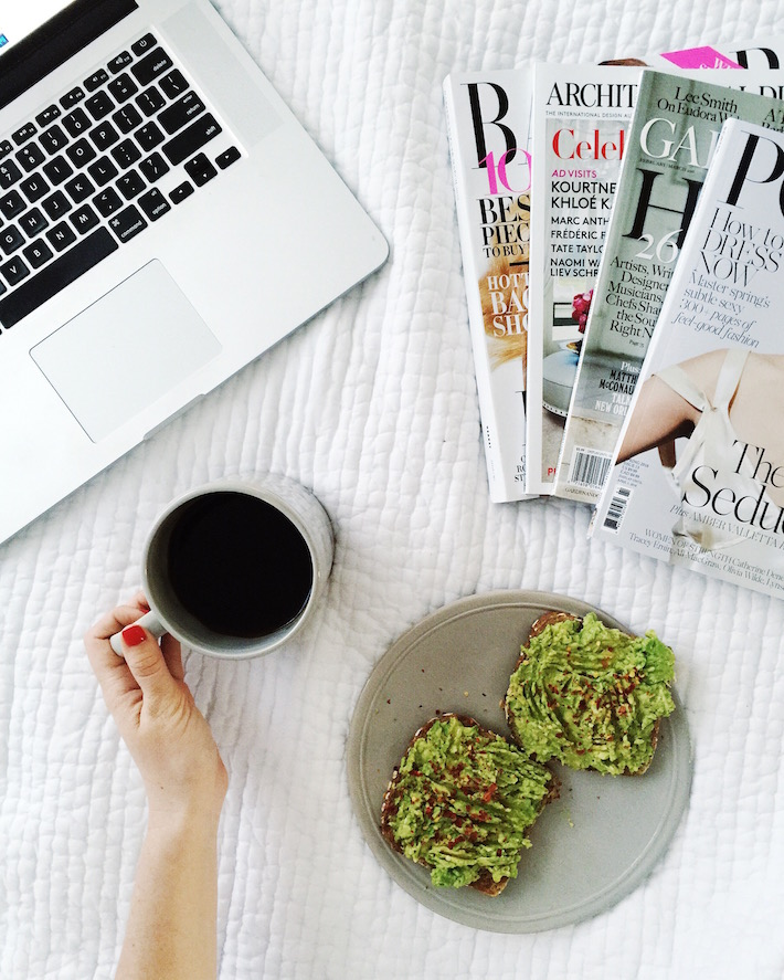 Avocado Toast and Coffee - Annie Reeves Morning Routine