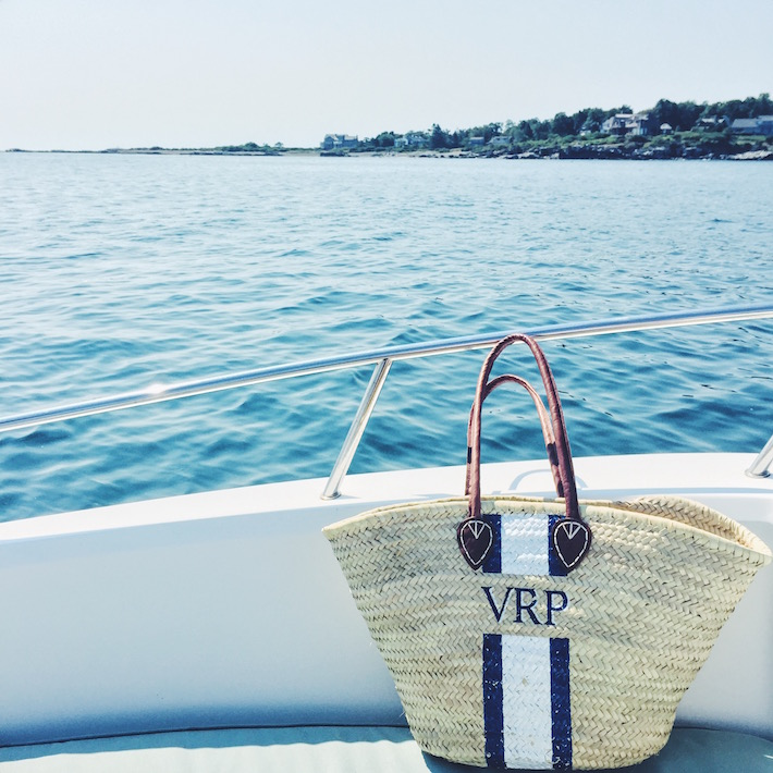 Monogramed Straw Tote from Lindroth Designs