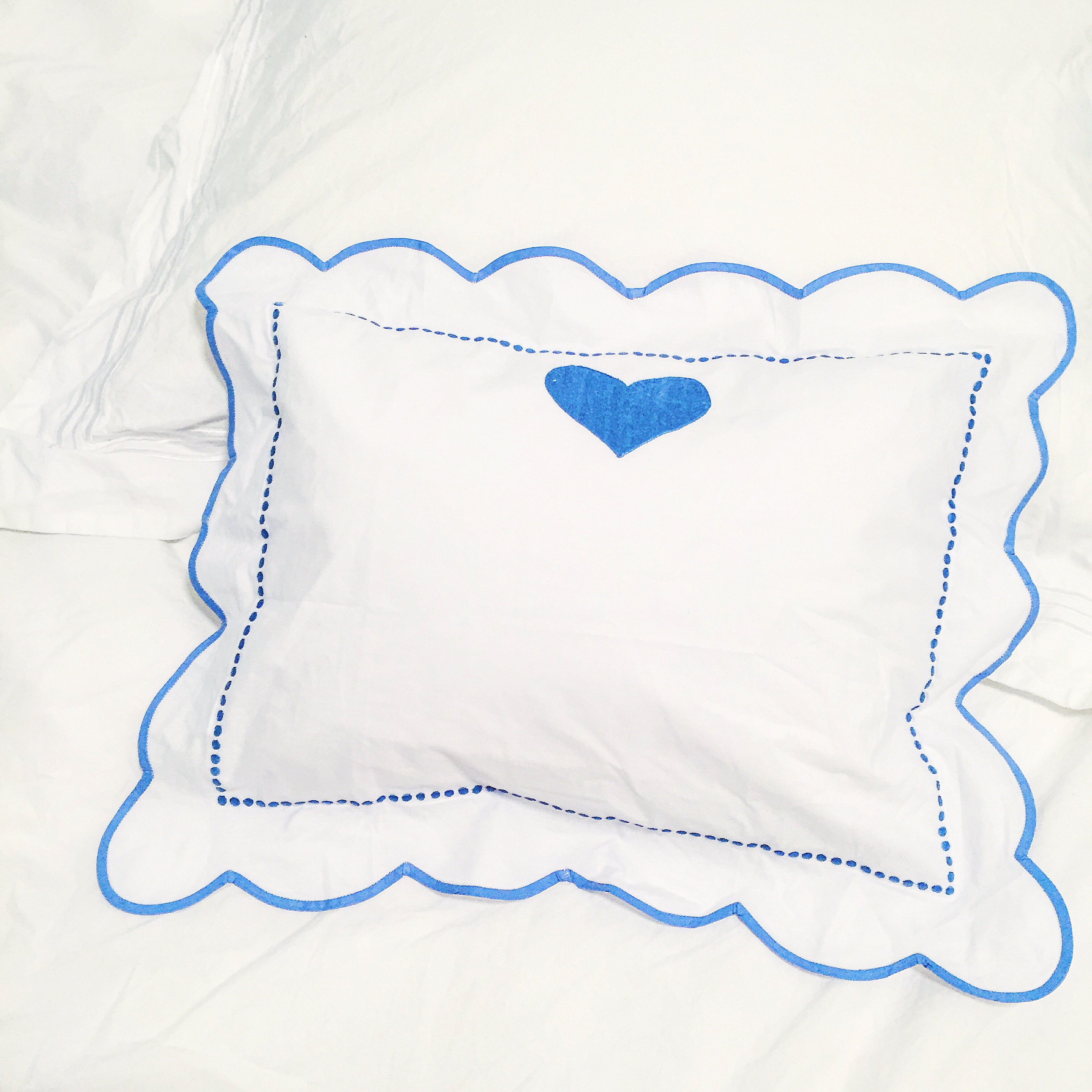 Charmajesty Linens - Blue Embroidered Pillows