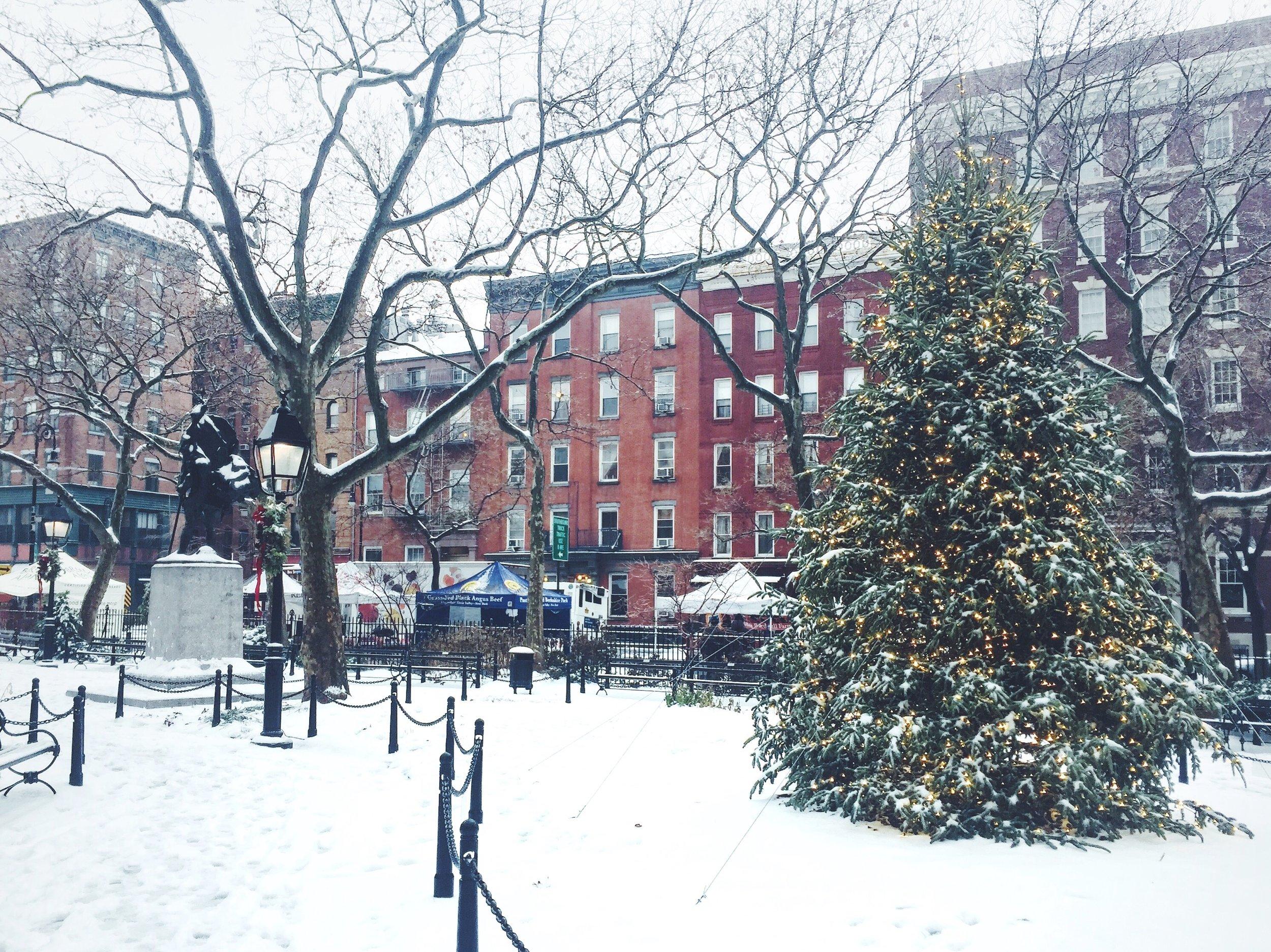 Snow in New York City, West Village. Via Simply Elegant Blog.