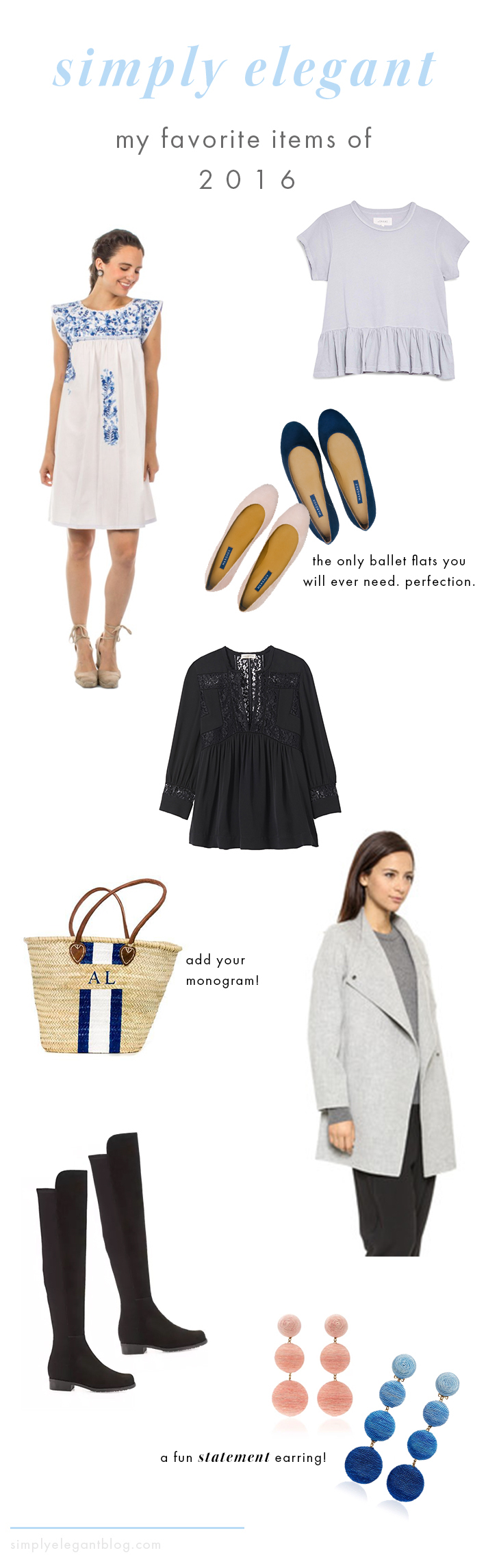 Favorite Items of 2016 - Ballet Flats, Jacket, T-Shirt and more.