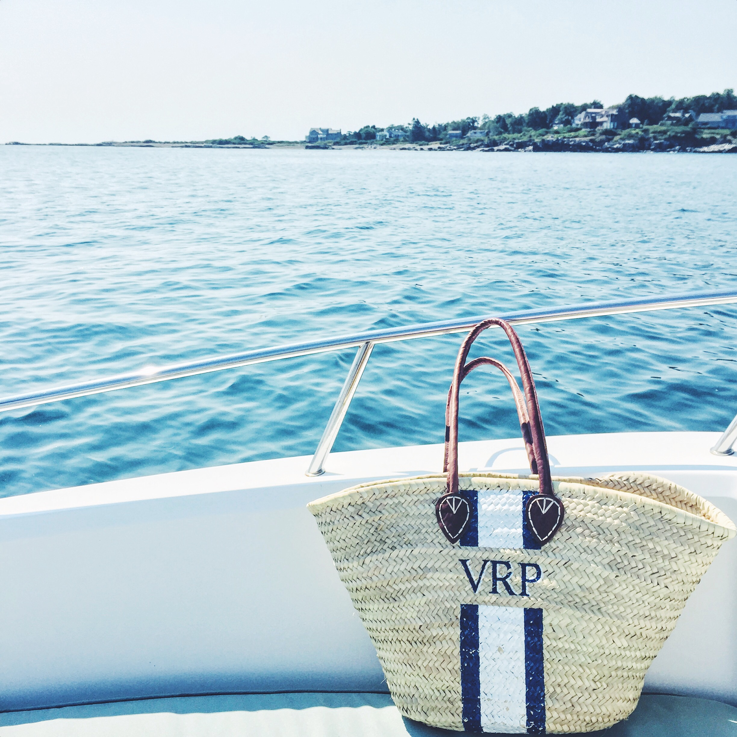Monogramed Straw Tote - Lindroth Designs