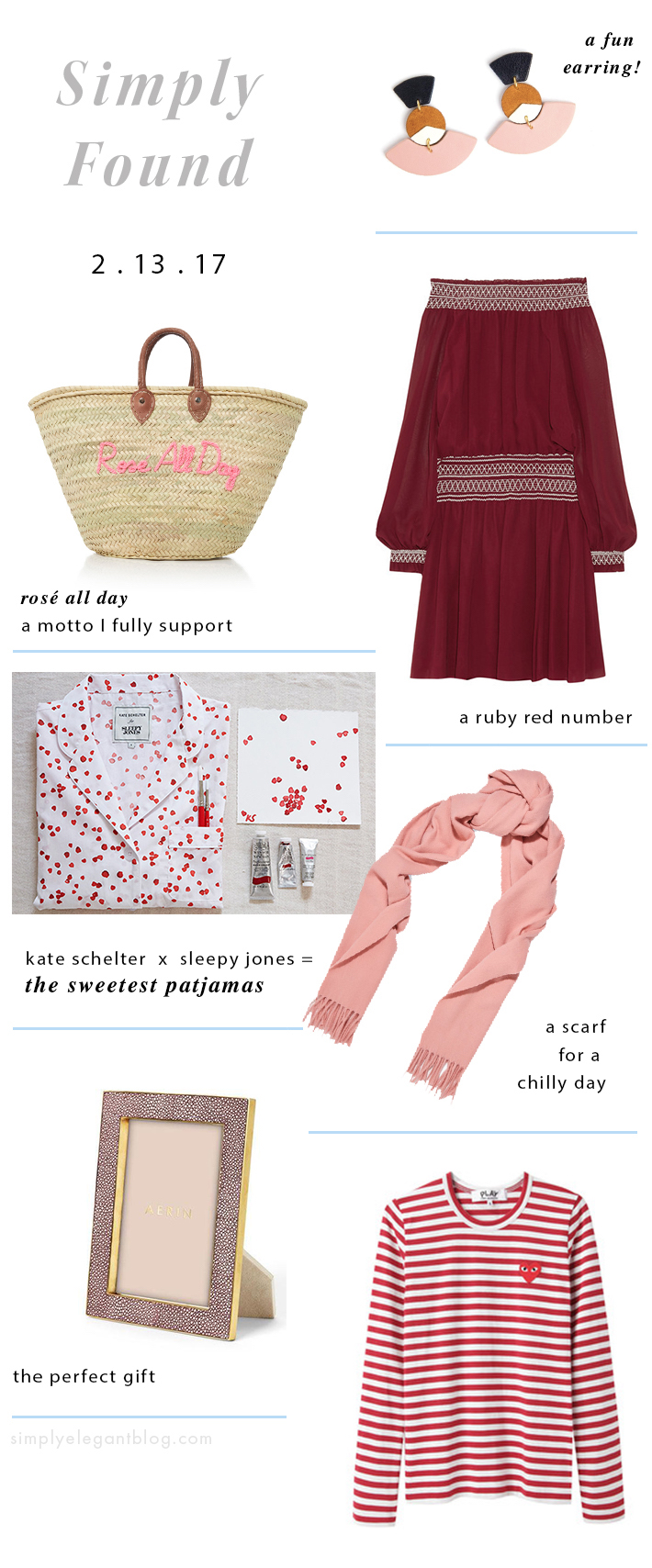 Favorite Pink & Red Items - Simply Found - Valentine's Day Shopping