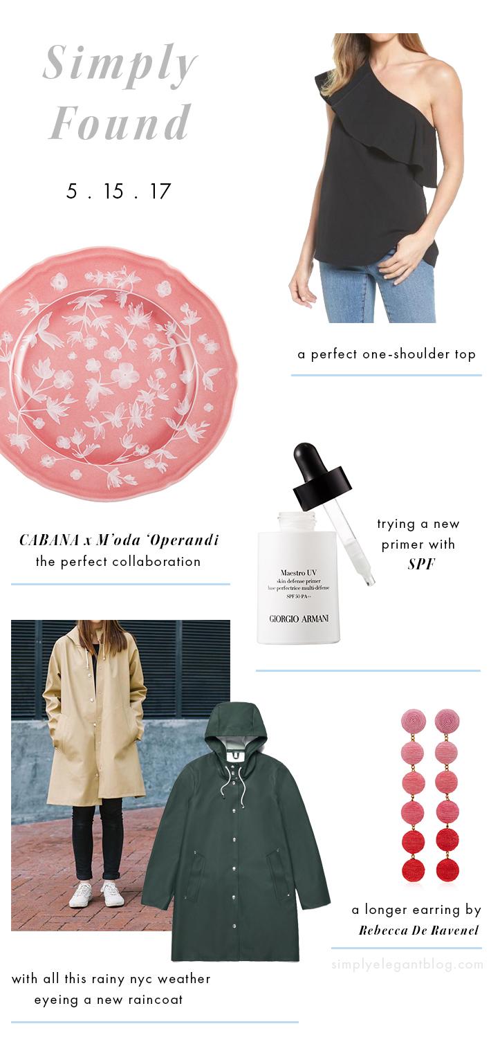 Cabana + Moda Operandi, Stutterheim Rain Coat, Six Drop Rebecca De Ravenel