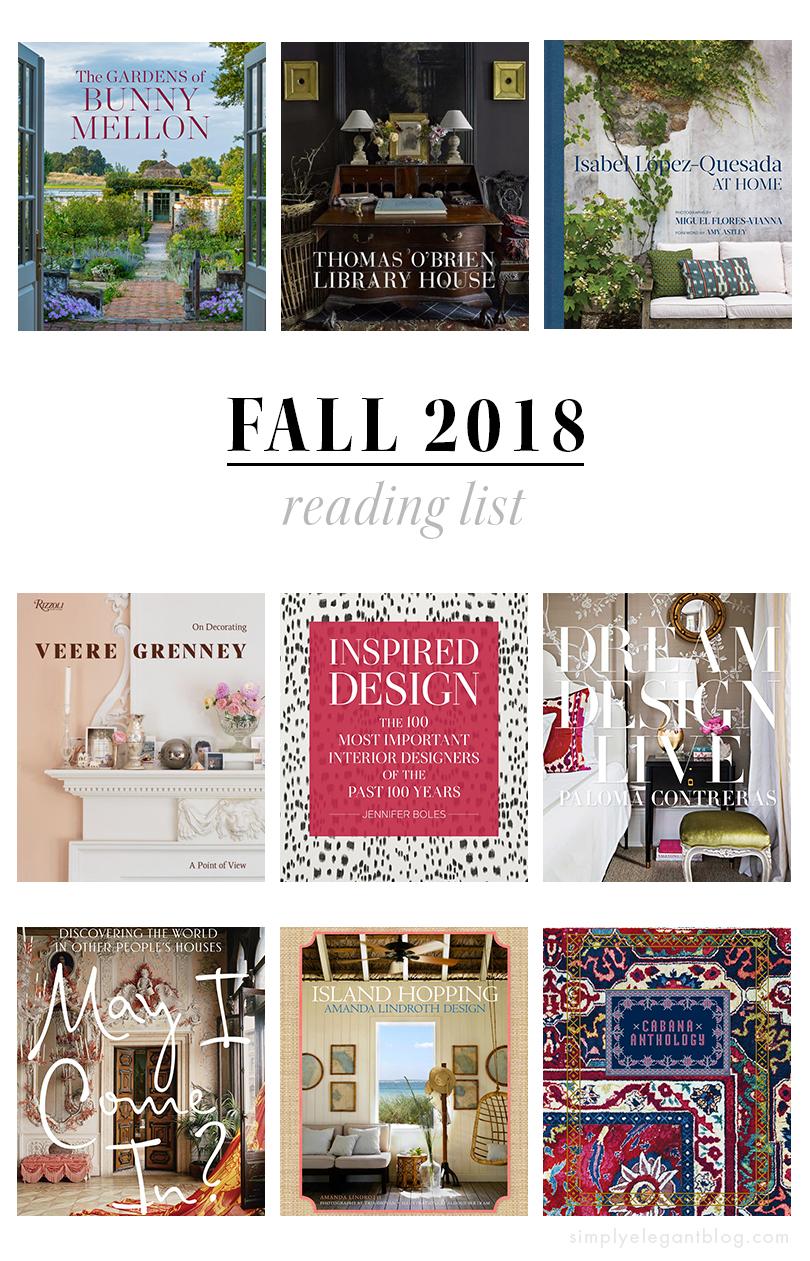 interior-design-books-2018. Paloma Contreras. Thomas OBrien. Wendy Goodman. Cabana.
