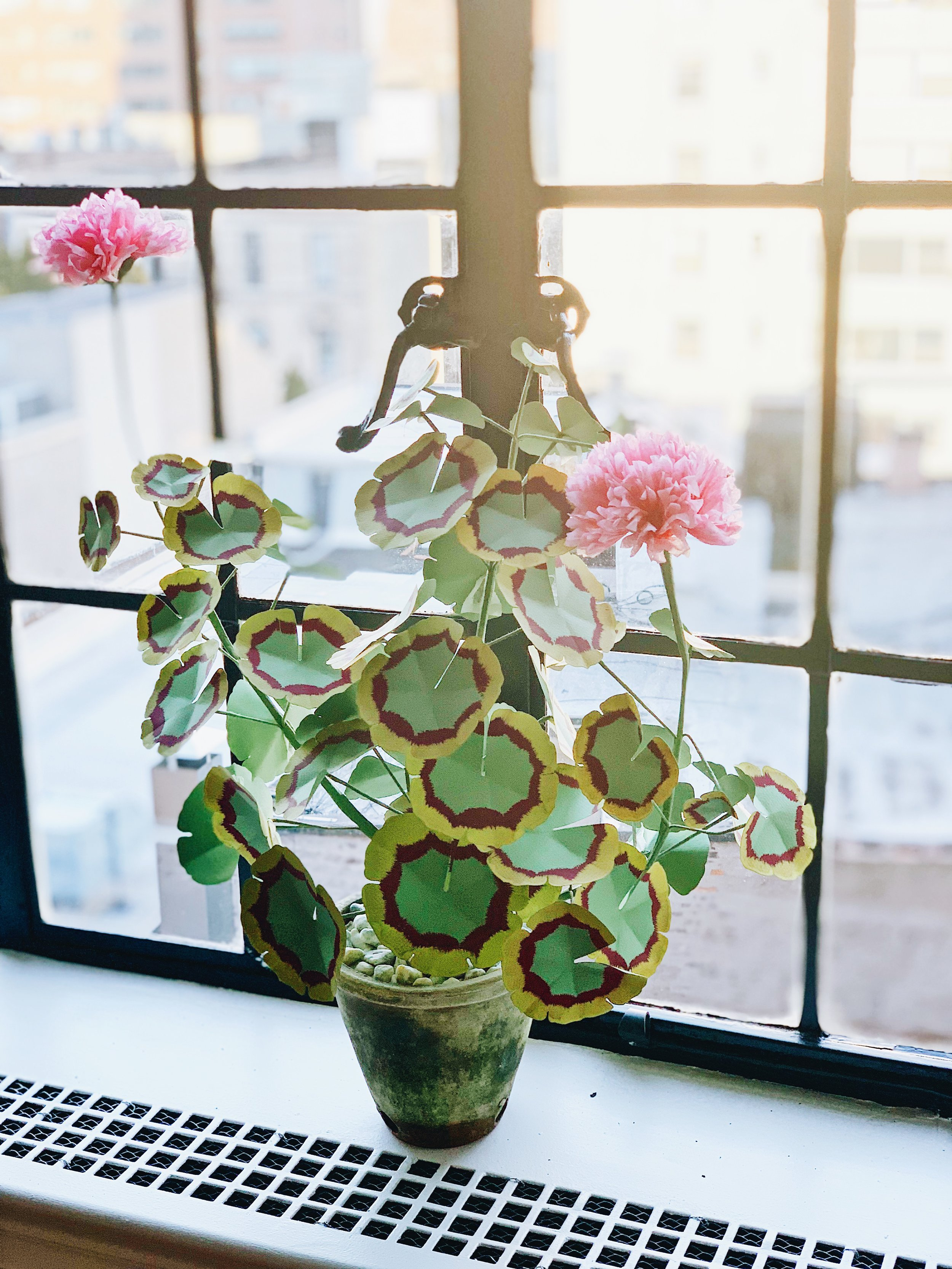 My kind of house plant! (I love all the paper flowers from Livia at The Green Vase. I picked up this style at  John Derian.  )