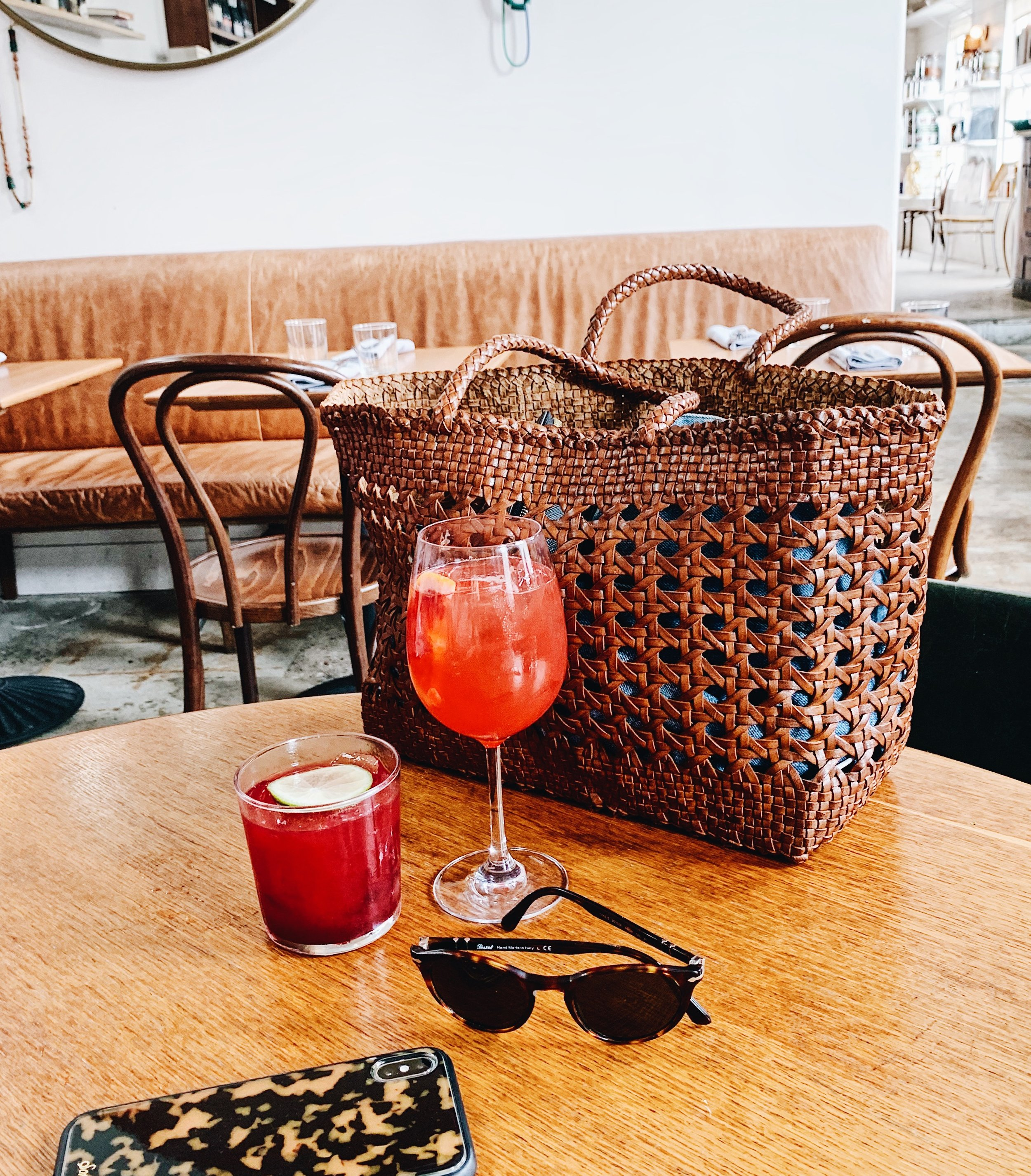 One of my favorite spots in Charleston was  Basic Kitchen.  //  Bag,   Sunglasses  &  iPhone Case.