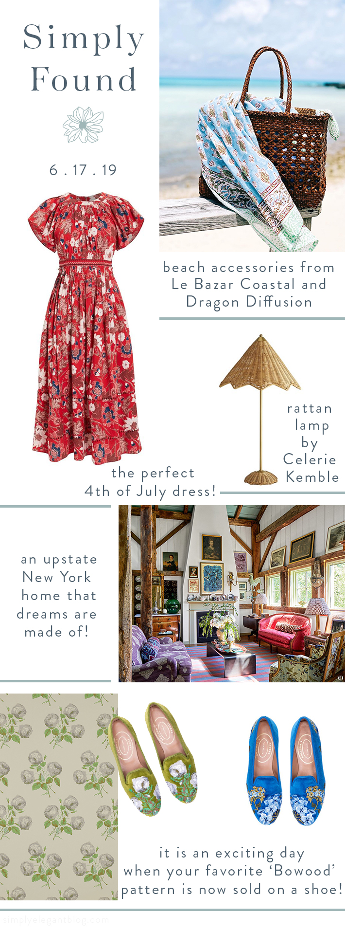 Simply Found Shopping List - Dragon Diffusion Bag, Le Bazar Coastal, Mieke Ten Have, Colfax & Fowler for Stubbs & Wootton