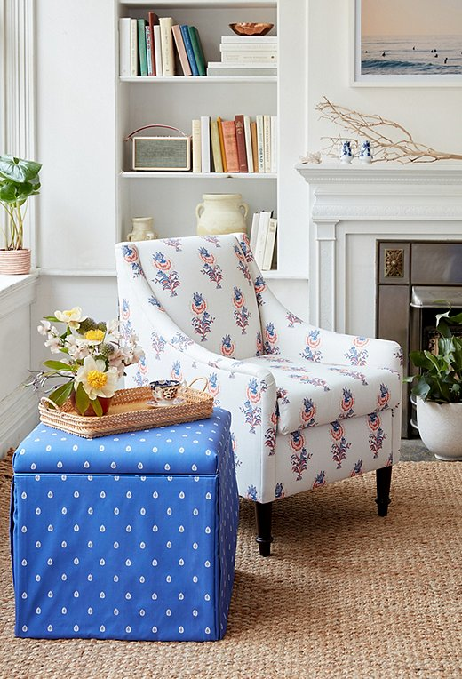 Minnie Driver for One Kings Lane - Patterned Chair & Ottoman.jpg