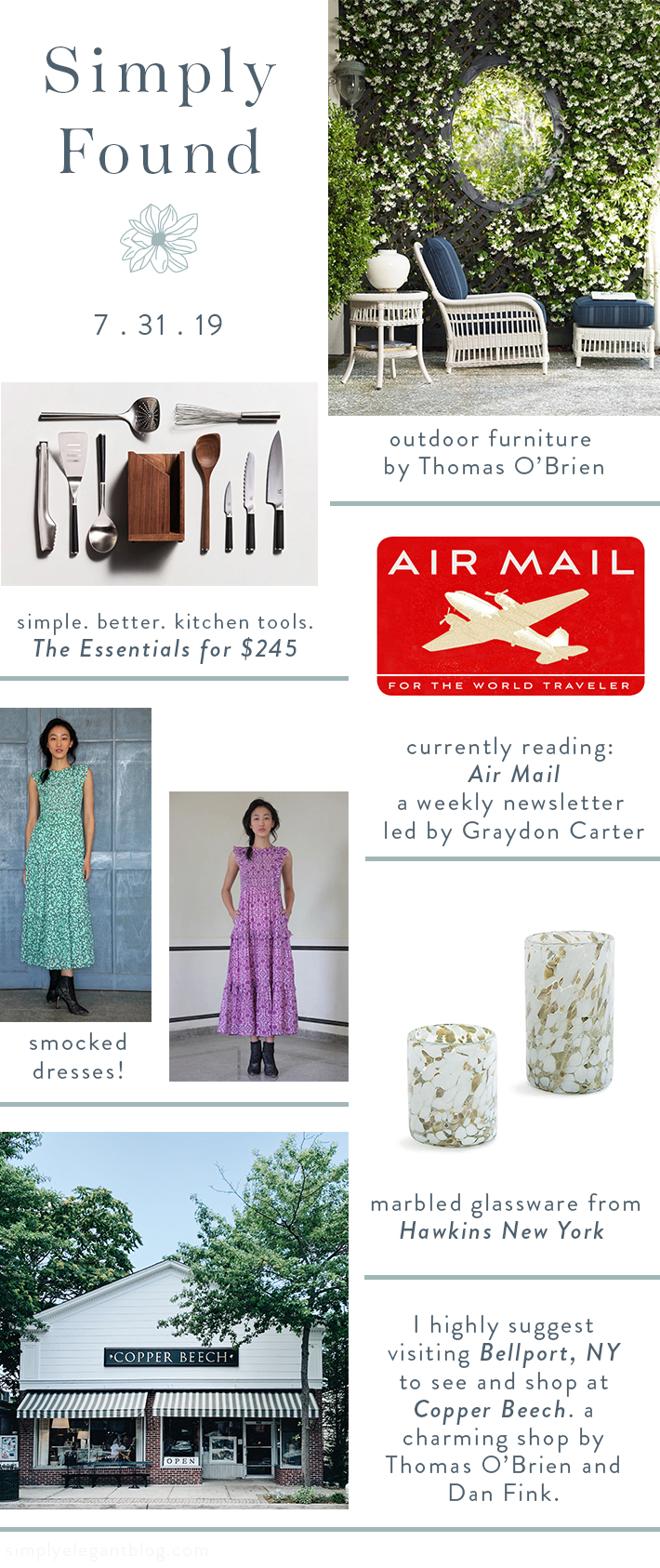 Simply Found 53 - Thomas OBrien, AirMail, Hawkins New York, Banjanan Dresses and Marerial Kitchen