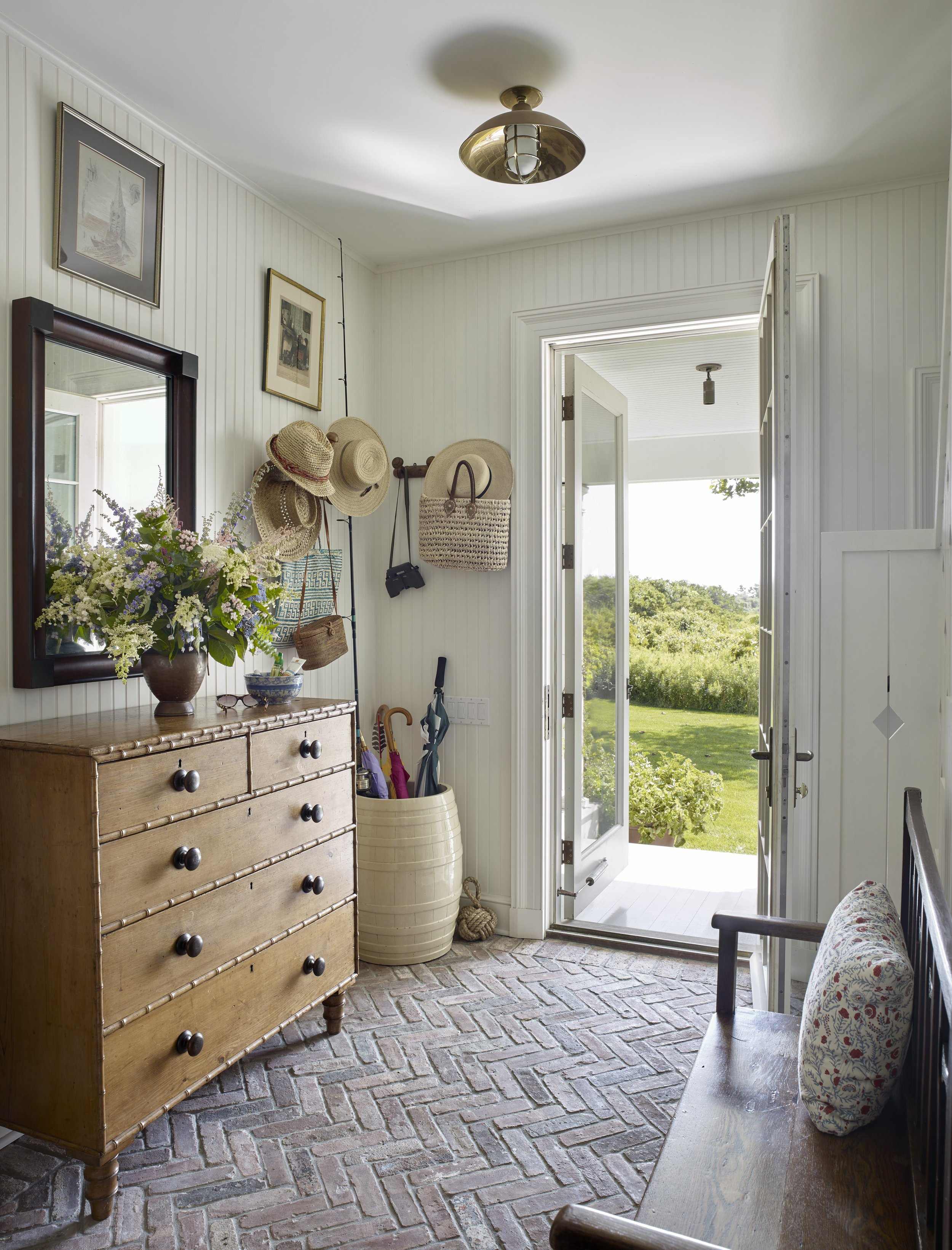The mudroom of a home in the Hamptons.