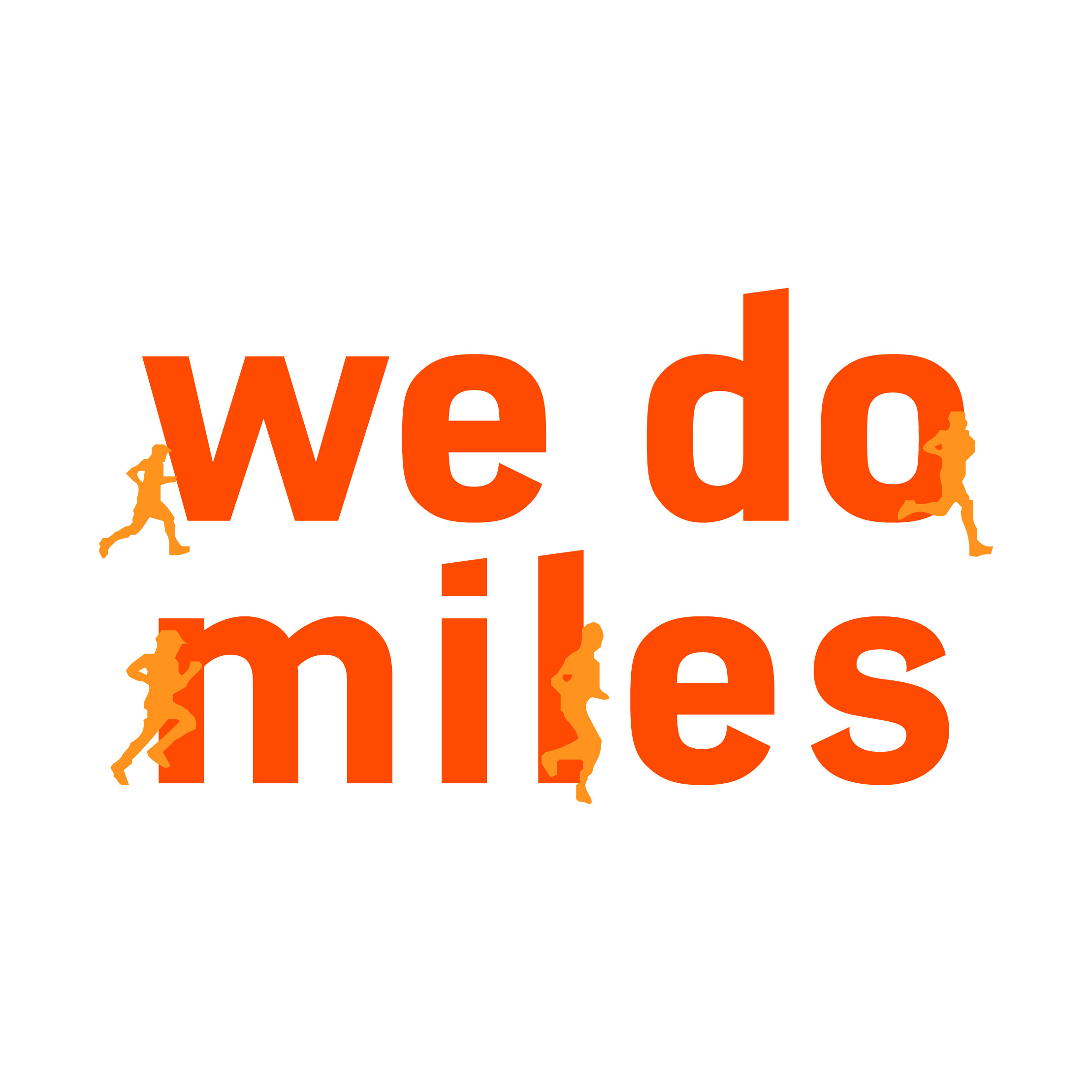 Revised logo for the Striders'  We Do Miles  program for members