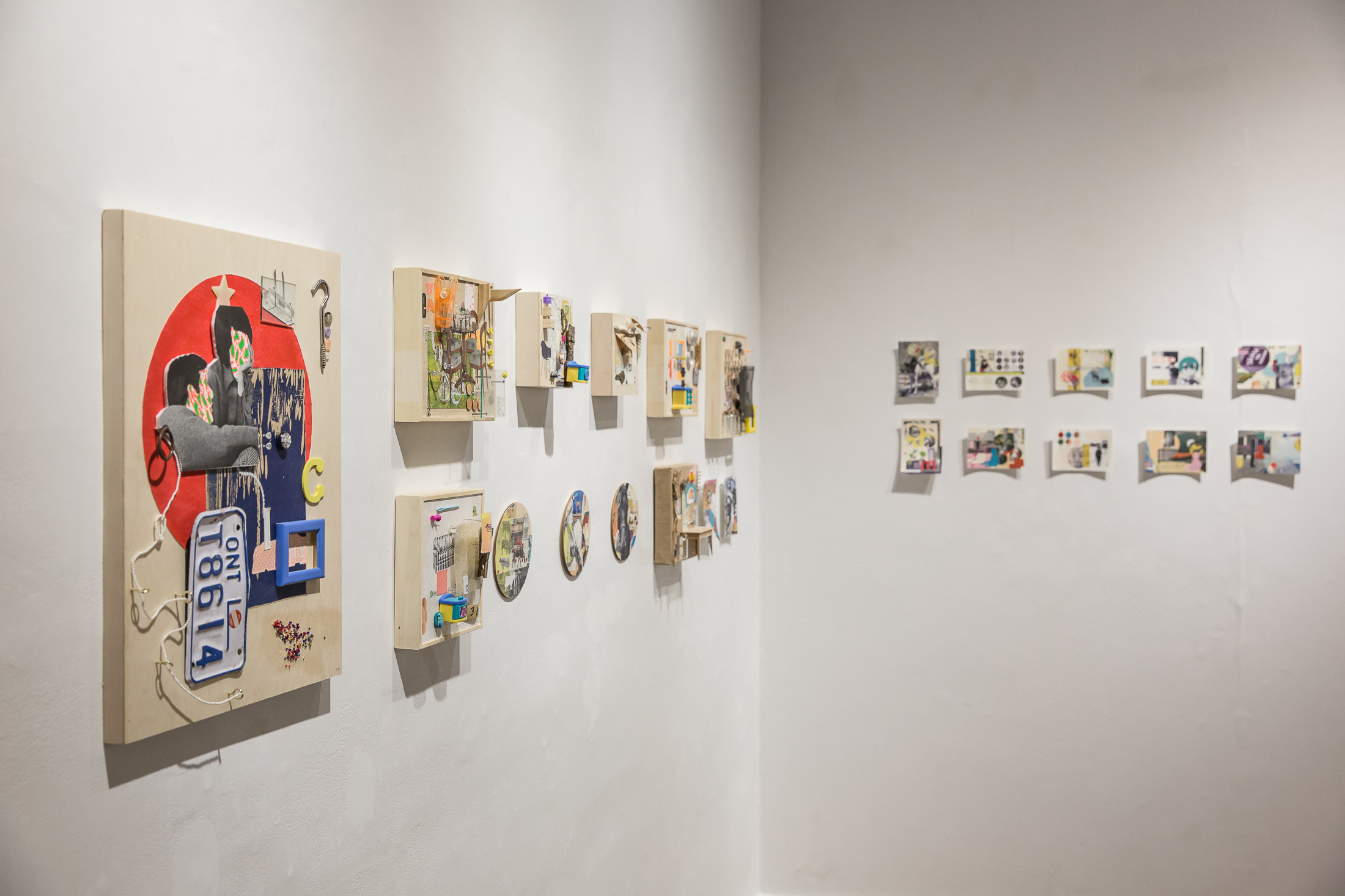 Installation shot of  Interiors  as a part of the 2017 solo exhibition  Waving Bye Bye To Telephone Pole - '67 (approx)