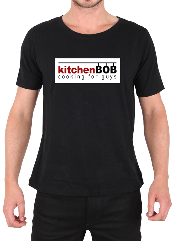 Black kitchenBOB cooking t-shirt - ONLY $29.99 (shipping/taxes included in the US)