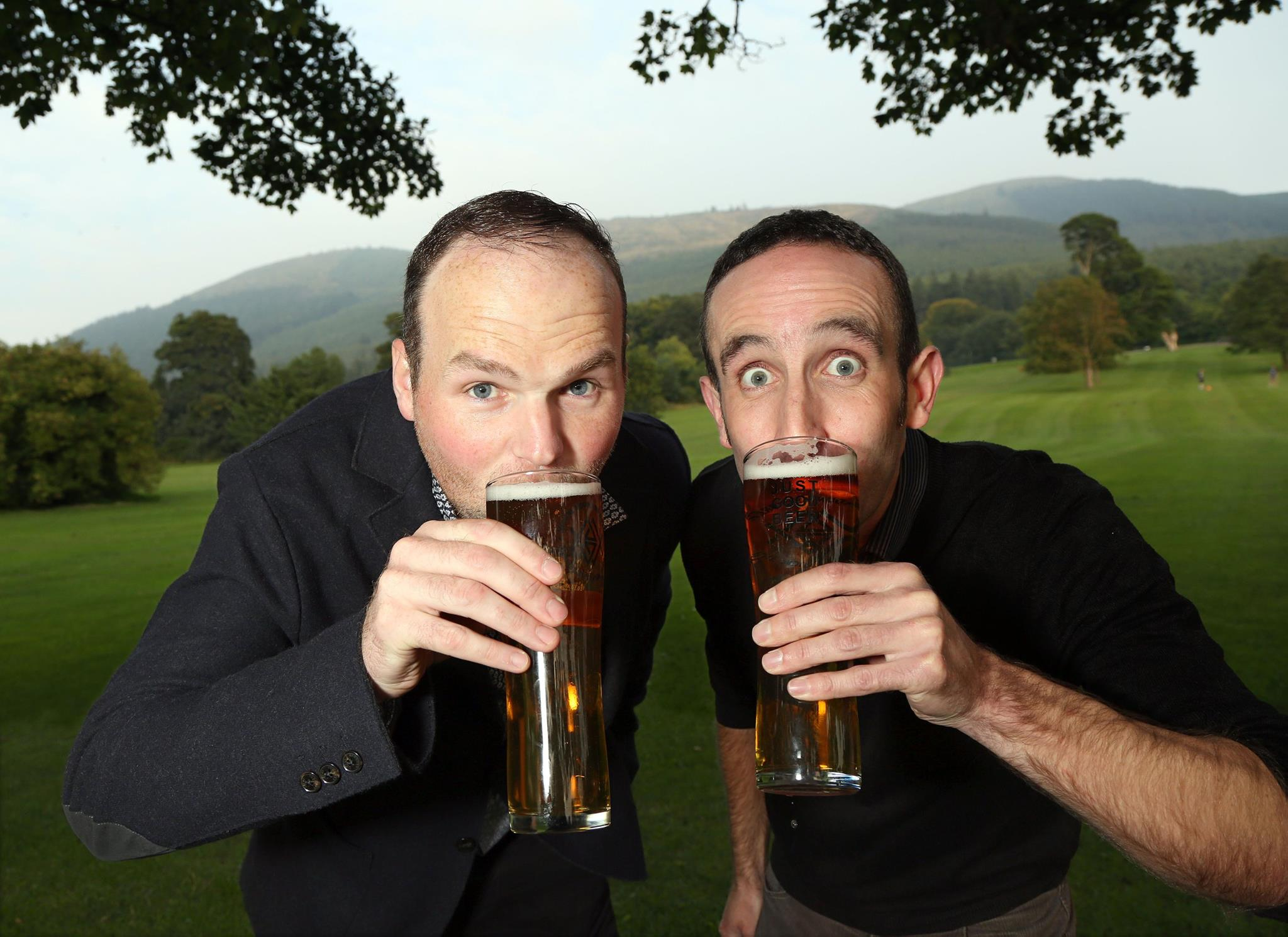 Tom Ray (right) pictured with Mourne Mountains owner Connaire McGreevy