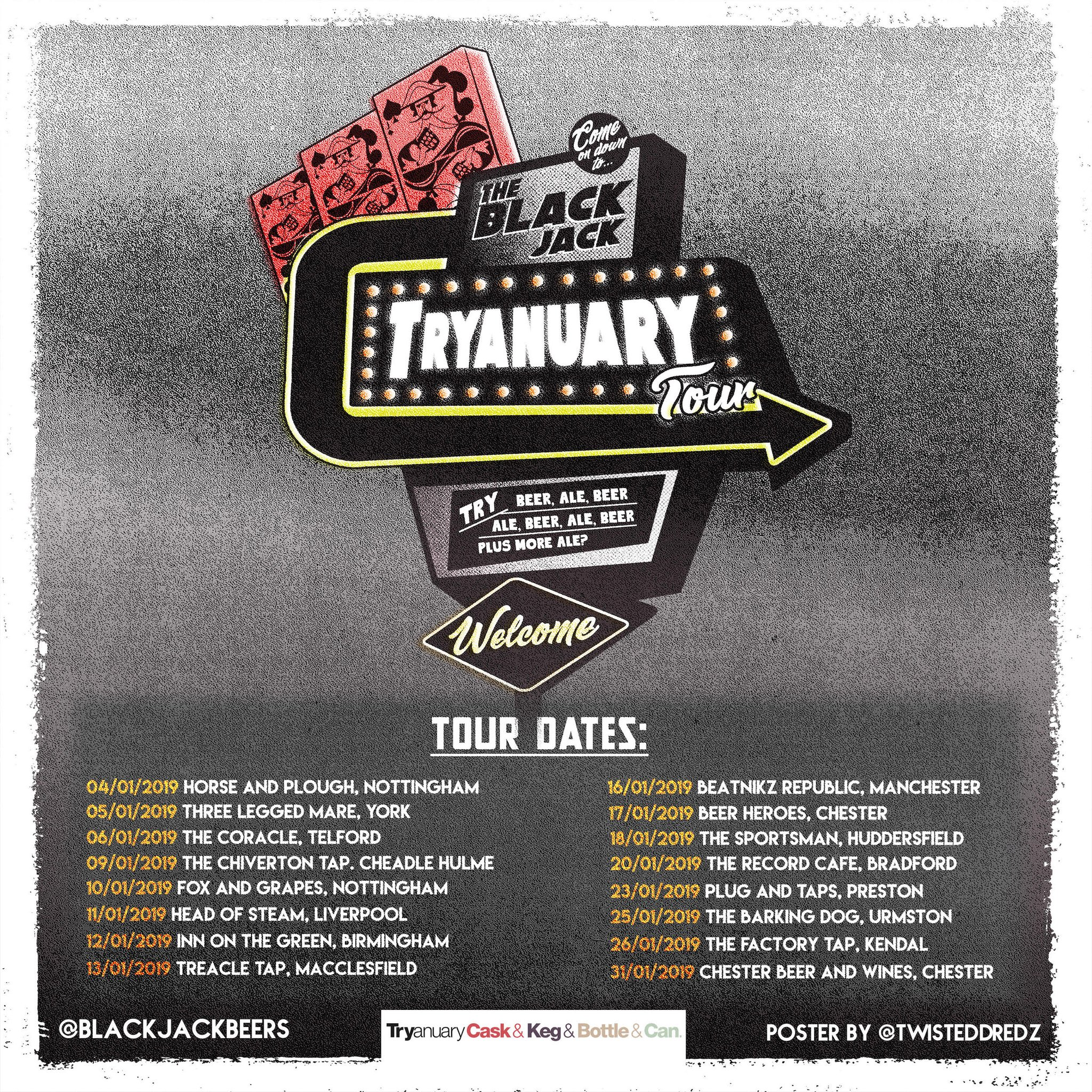 Blackjack Brewery Tryanuary Tour Dates