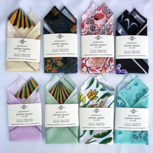 Pocket squares are the perfect piece to spruce up your jacket for all occasions! Come get a super deal on pocket squares, bandanas, and satin scarves this Saturday from 12-6 at my Open Studio Sale Uptown. See link in profile for details. . . . . . . . . . #etsyseller #etsyneworleans #nolaetsy #neworleansartist #nolaartist #followyournolaartist #pocketsquares #handmadetextiles #louisianamade #madeinlouisiana #textileartist #homegoodsfinds #homedecor #handmadehome #artsale #oysterart #magnoliaart #floralpattern #patternobserver #spoonflowerartist #spoonflower #abmathome #dshome #apartmenttherapy
