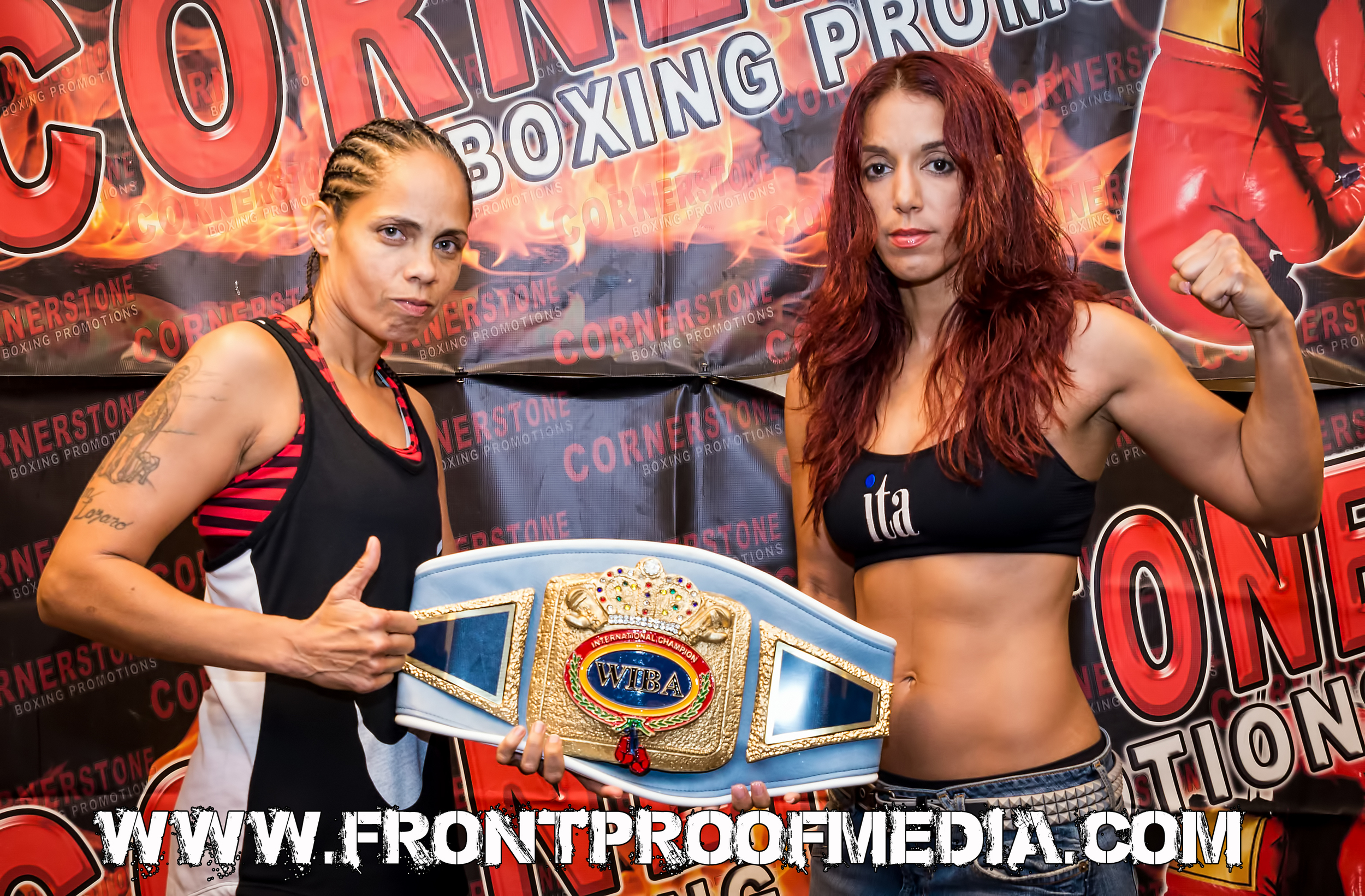 Noemi Bosques and Marisol Miranda Weigh in for their WIBA title fight Aug 22, 2015