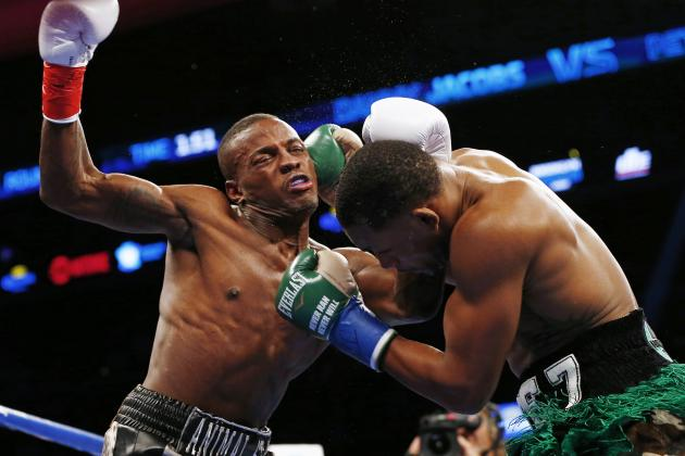 Danny Jacobs lands a crushing right hand to the temple of Peter Quillin in the first round  Rich Schultz/Associated Press