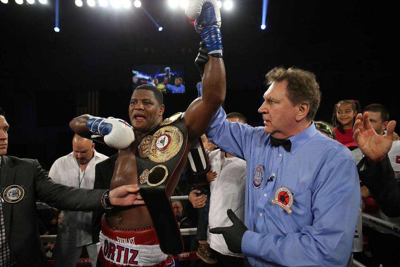 Luis Ortiz after his devastating KO victory over Bryant Jennings  Photo credit:  Alex Menendez - HoganPhotos/Golden Boy Promotions