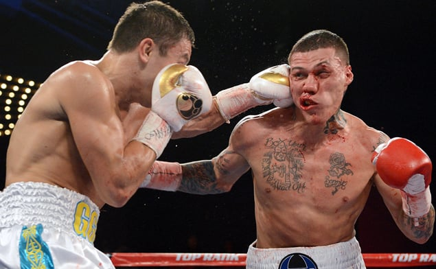 Gabe Rosado put on a brave showing against Golovkin during their fight