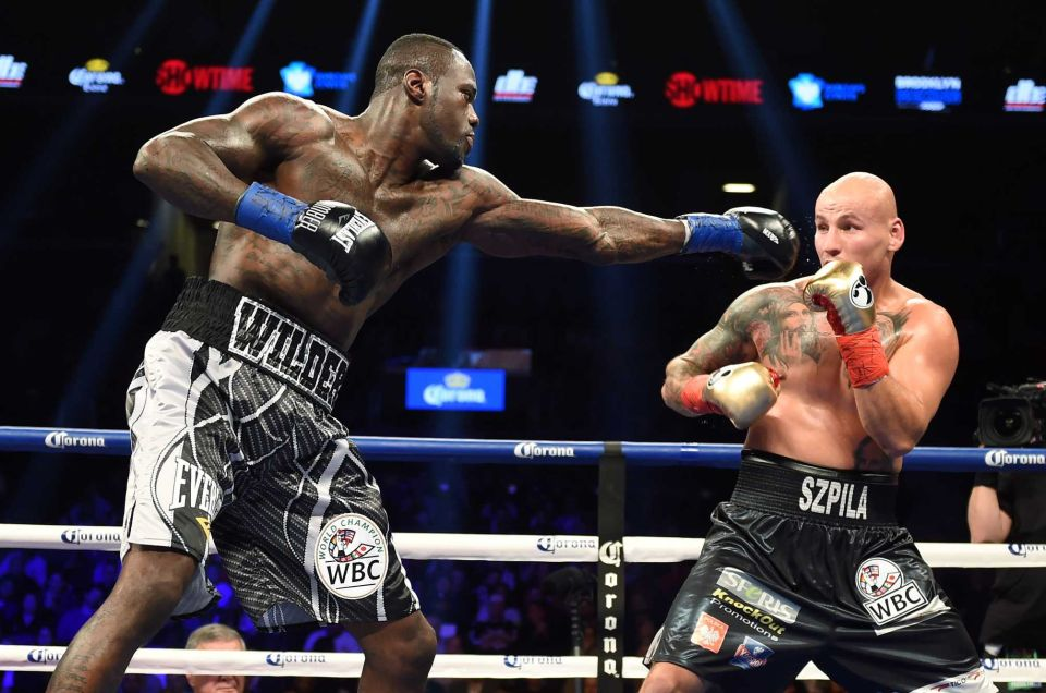 Wilder starting to find his range after round 4  Credit: Getty Images/ DON EMMERT STF