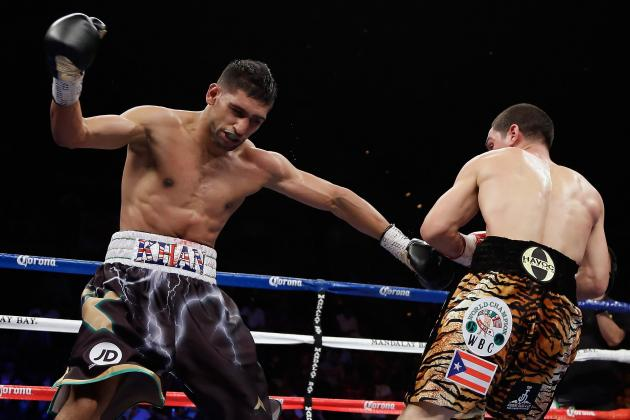 Danny Garcia lands a thunderous left hook that changed the complexion of the fight in the 3rd round. Photo Credit:  Jeff Gross/Getty Images