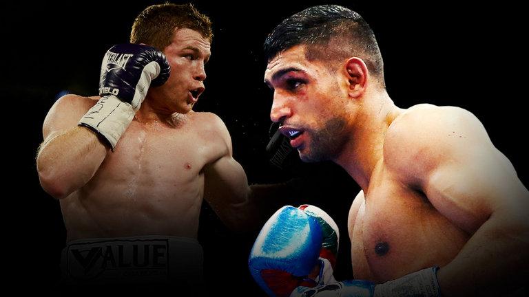 Canelo Alvarez takes on two-time former world champion Amir 'King' Khan May 7, 2016, in Las Vegas.