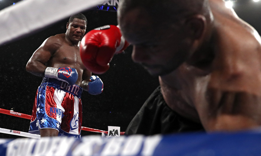 Tony Thompson could not find any answer for Luis Ortiz's power and strength on March 5.  Photo: Patrick Smith/Getty