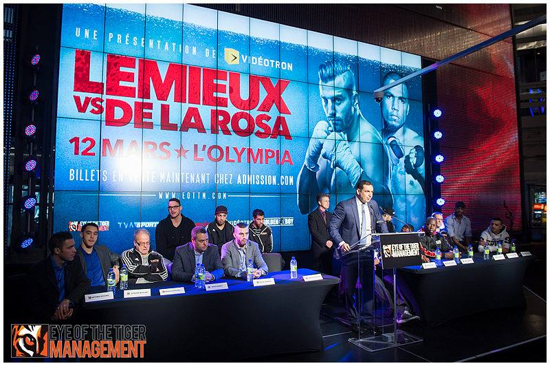 David Lemiuex and James De La Rosa meet in the final press conference before their big fight. Photo Credit: Eye of the Tiger Management