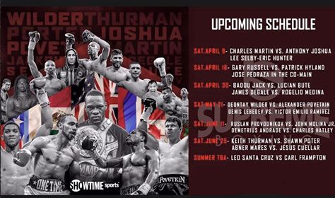 Showtime upcoming fights Boxing
