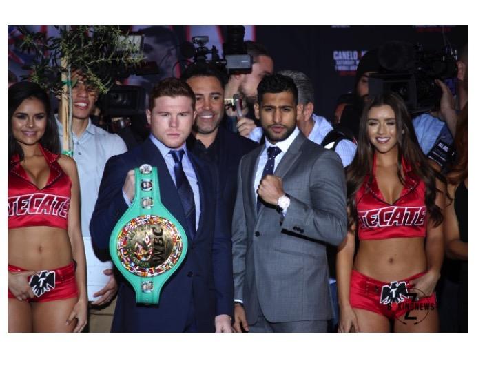 Canelo Alvarez and Amir Khan will headline the May 7 PPV event.   Photo: Harvey Feliciano/Z-BoxingNews-FrontProofMedia.com