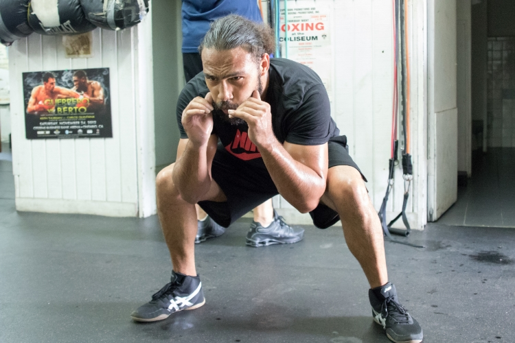 Conditioning work leading up to the fight. Photo Credit Ryan Hafey / Premier Boxing Champions