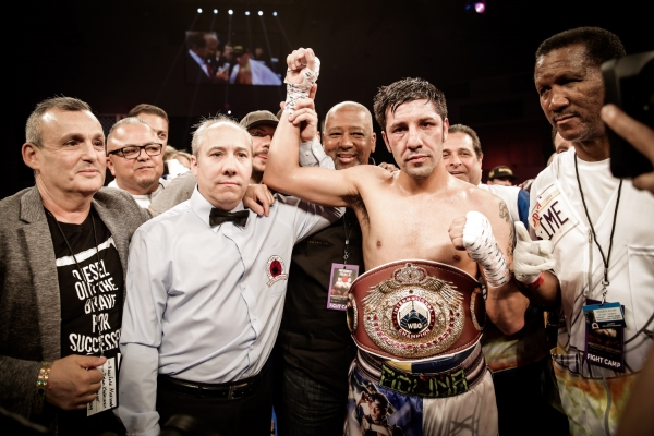 John Molina wins a unanimous decision over Ruslan Provodnikov in Verona, NY. Photo credit: Amanda Westcott / SHOWTIME