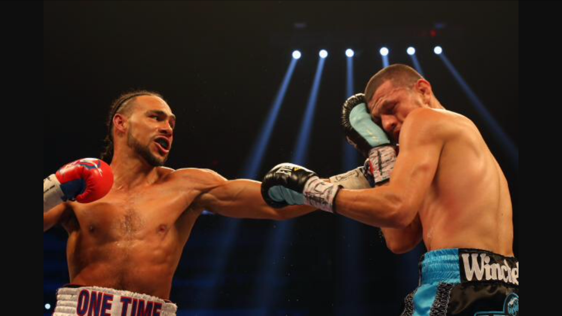 Thurman lands a left hand on Jesus Soto Karass. This was one of Thurman's most impressive wins and stoppages. Photo: Joe Scarnici/Getty Images