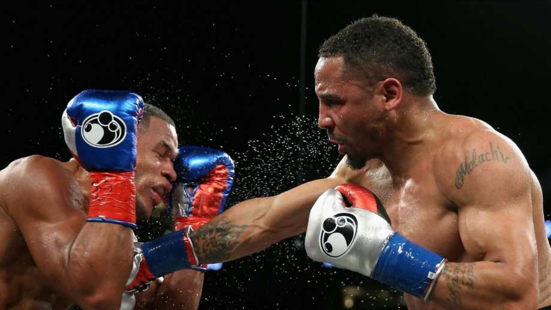 Andre Ward landing a right hand on Sullivan Barrera. Brand is certainly a step back from Barrera. Photo: Ezra Shaw/Getty Images