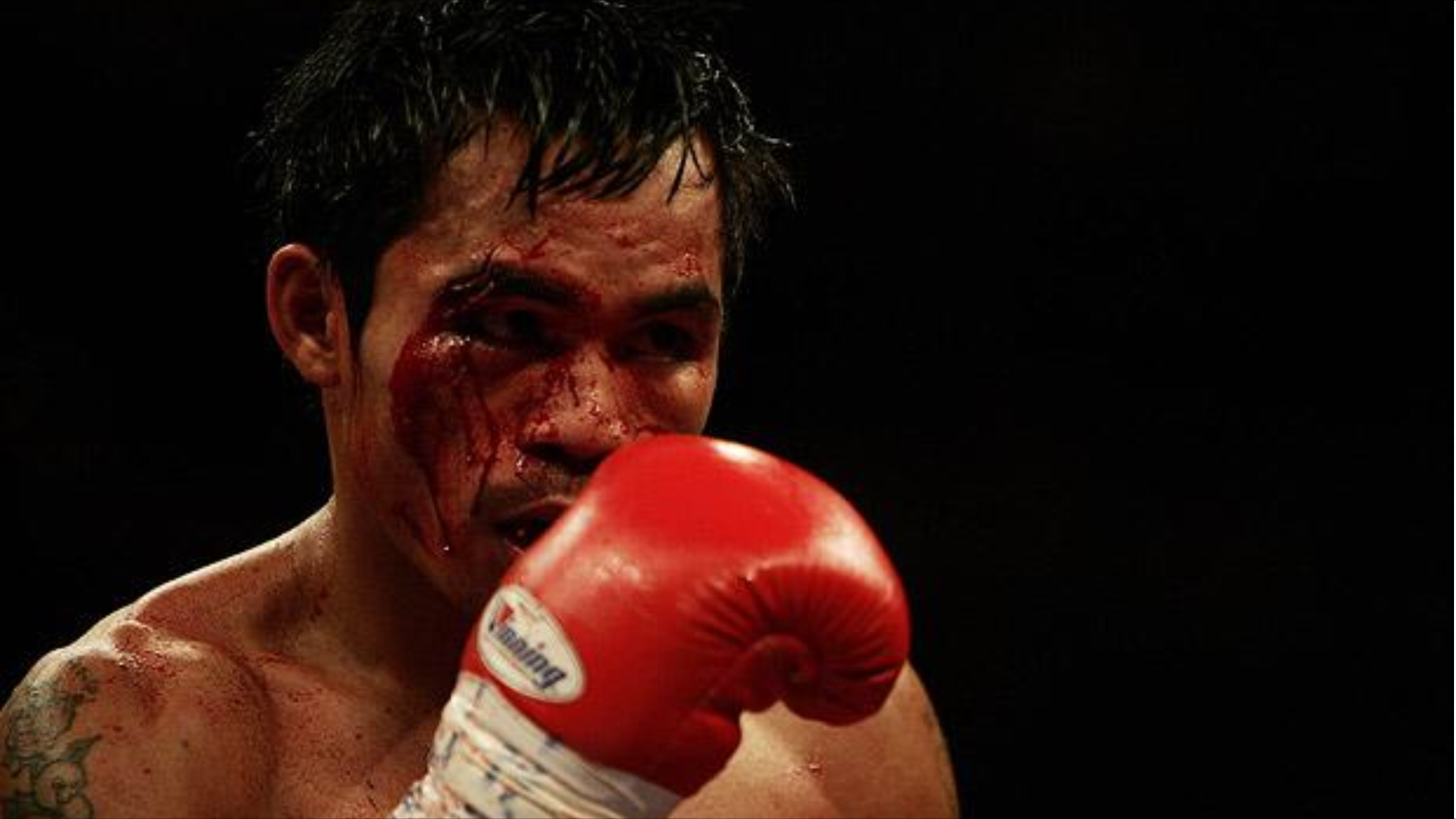 Pacquiao in his first PPV bout with Erik Morales in March 2005. Photo: Getty Images