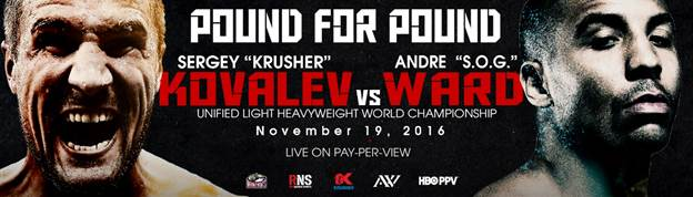 Official promotional poster for the November 19th bout, which was sent out by RocNation hours after Andre Ward's previous fight. Photo: Roc Nation/Main Events