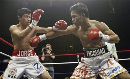 Manny Pacquiao faced Jorge Solis on an independent Top Rank PPV in April 2007. Photo: Reuters/Joe Mitchell