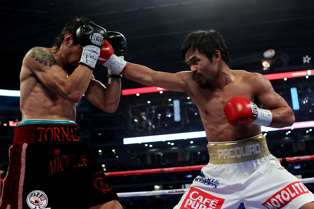 Manny Pacquiao faced Antonio Margarito in his second fight at AT&T Stadium. Photo: Nick Laham/Getty Images