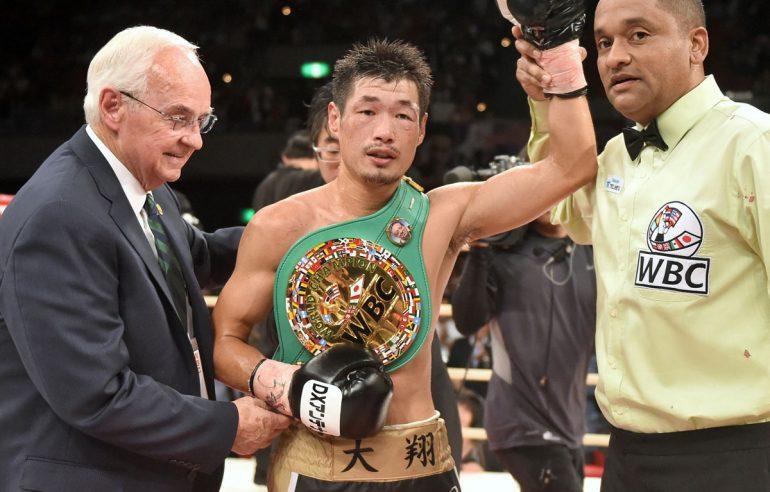 Hozumi Hasegawa after his big win over Hugo Ruiz. Photo: Naoki Fukuda/RingTV