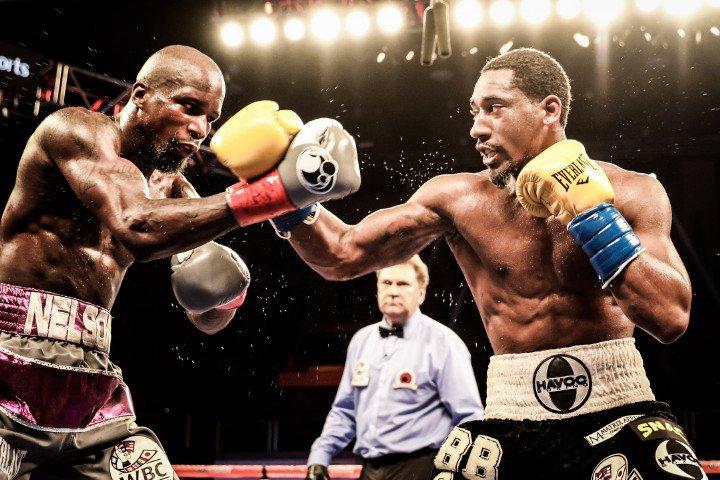 Demetrius Andrade in his dominant performance against Willie Nelson. Photo: Amanda Westcott/SHOWTIME