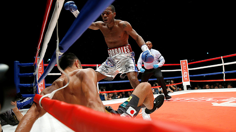 Jezreel Corrales scores an upset victory over Takashi Uchiyama. Photo: Action Images/Reuters/Issei Kato