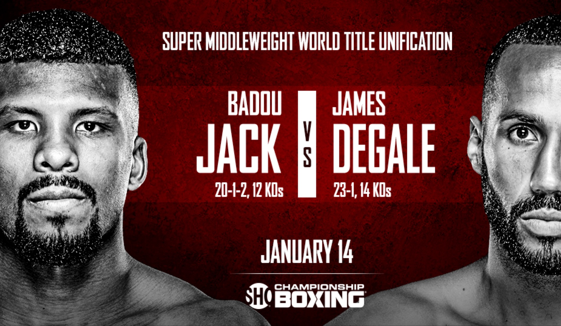 Badou Jack vs. James Degale will take place on January 14th. Photo: Showtime Sports